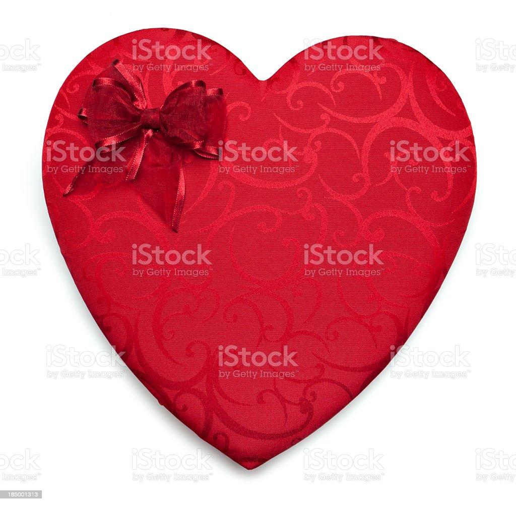 Red heart chocolate box stock photo