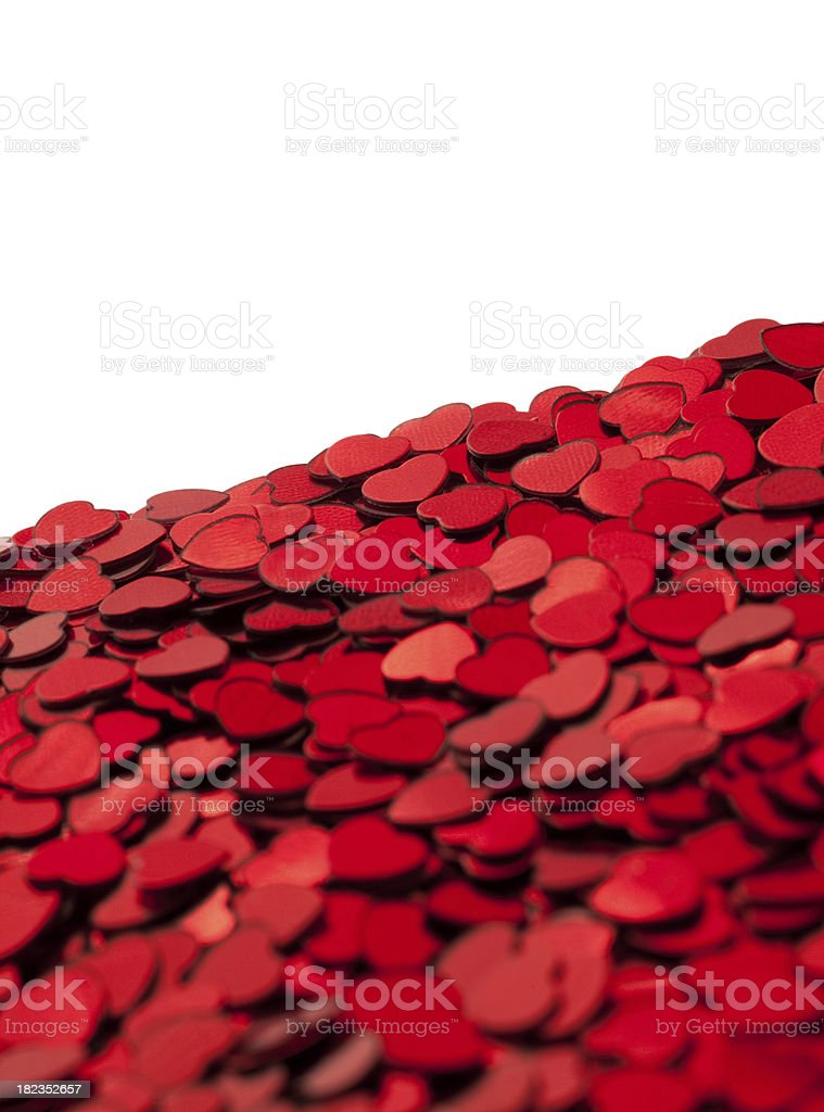 Red heart confetti royalty-free stock photo