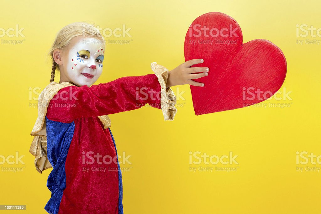 Red heart for mother or valentine royalty-free stock photo