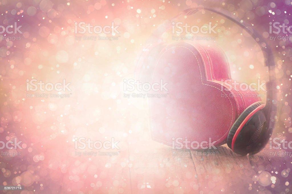 Red Heart music stock photo