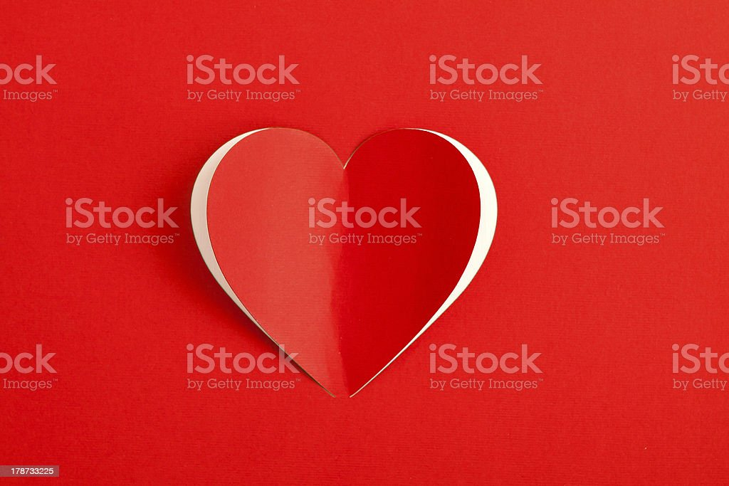 Red Heart Paper Sticker card stock photo