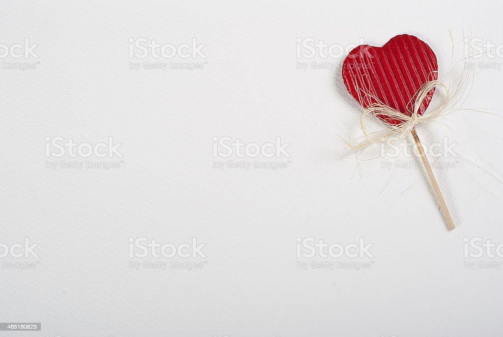 Rojo corazón foto de stock libre de derechos