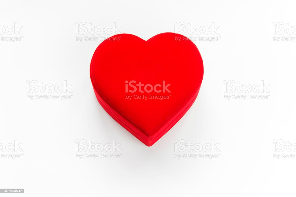 Red Heart Shape Box stock photo
