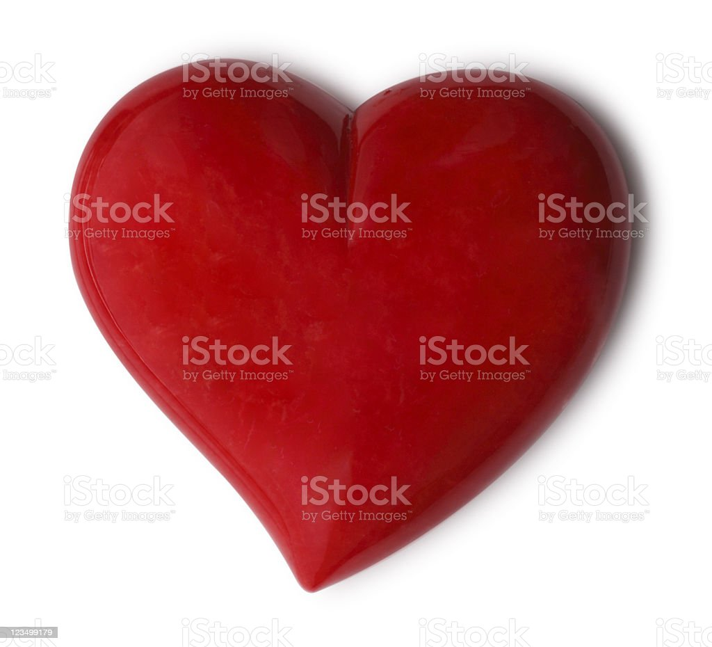 Red Heart Shape Isolated on White royalty-free stock photo