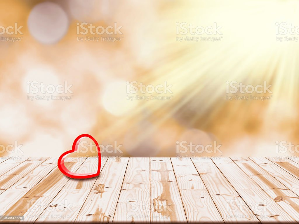 Red heart shape on the table.  Health concept royalty-free stock photo