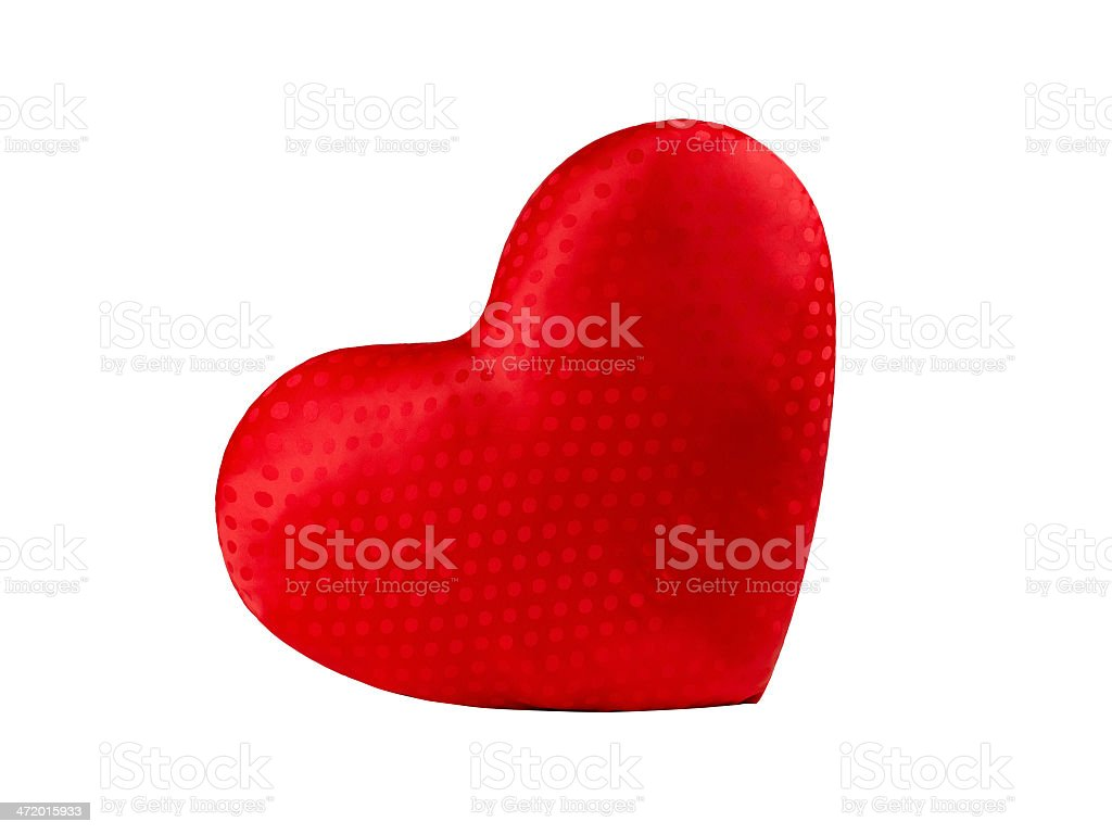 Rouge oreiller en forme de cœur photo libre de droits