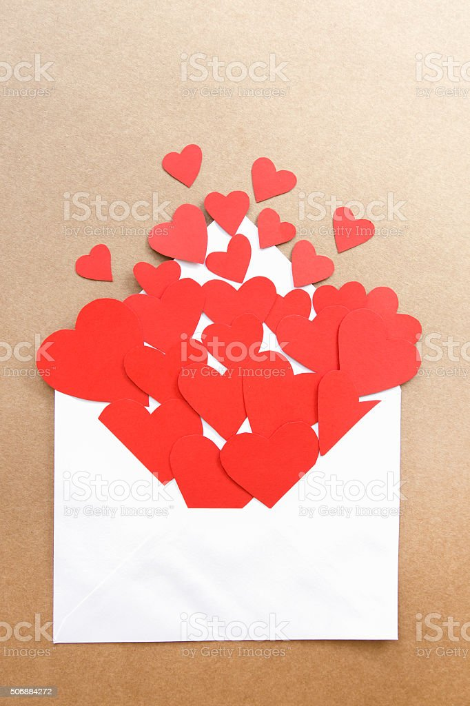 Red heart shapes for celebrations stock photo