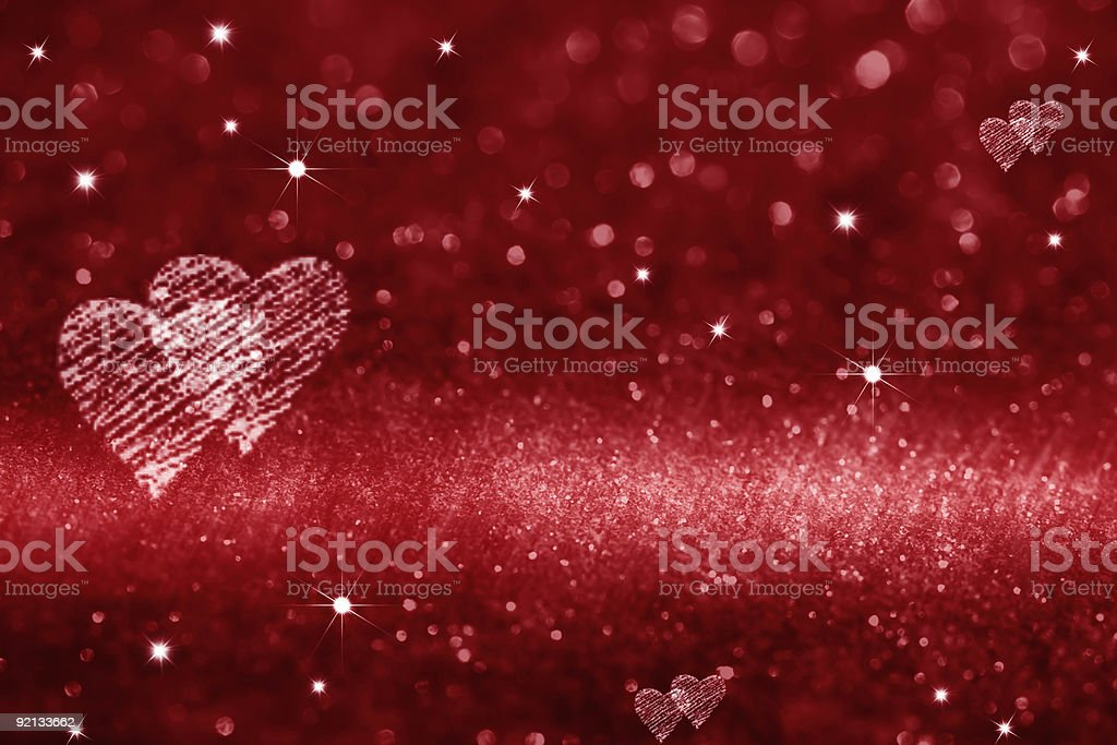 red heart space for love glitter ready design stock photo
