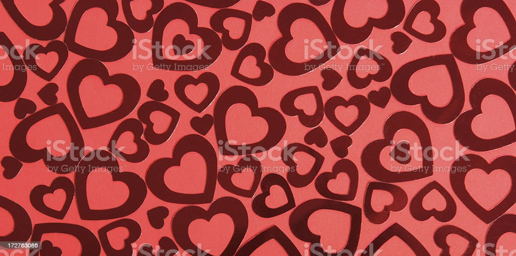 Red Hearts Background Full Frame Horizontal royalty-free stock photo