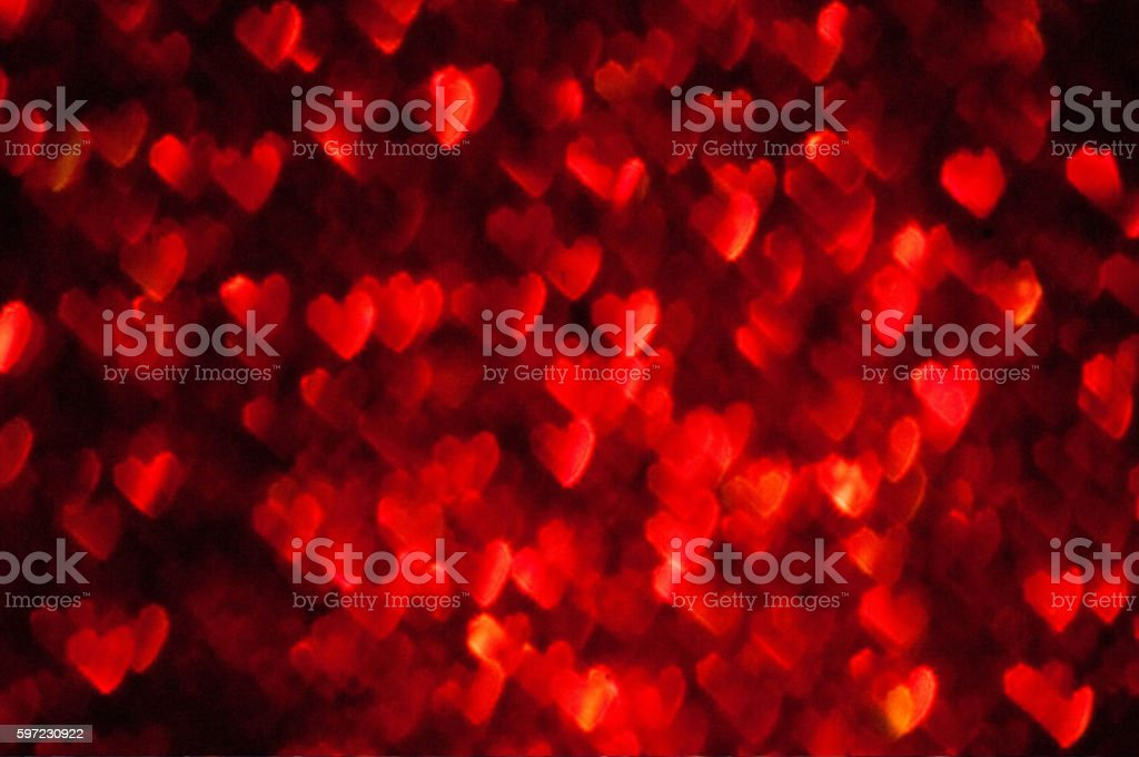 red hearts bokeh stock photo