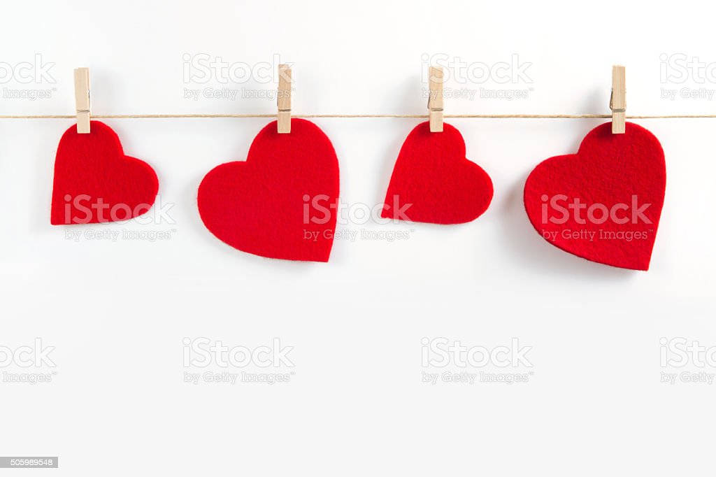 Red  Hearts for Valentine's Day stock photo