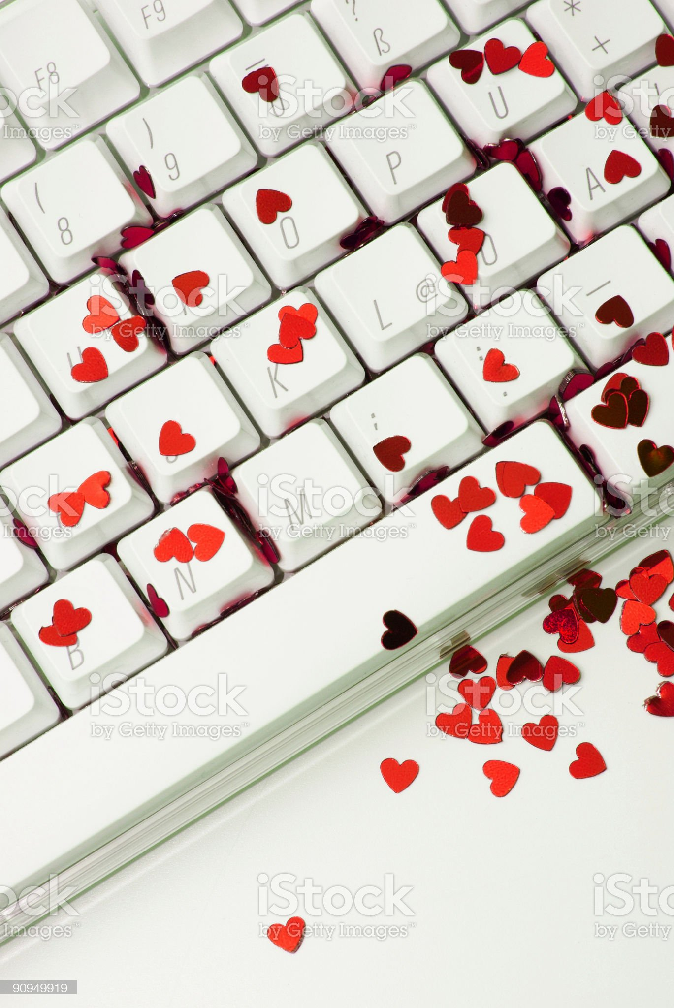 Red hearts online royalty-free stock photo