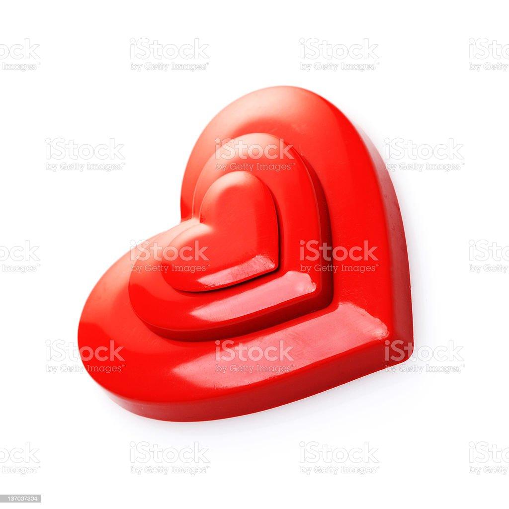 Rouge coeur photo libre de droits