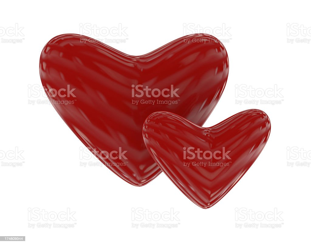 Red Hearts royalty-free stock photo