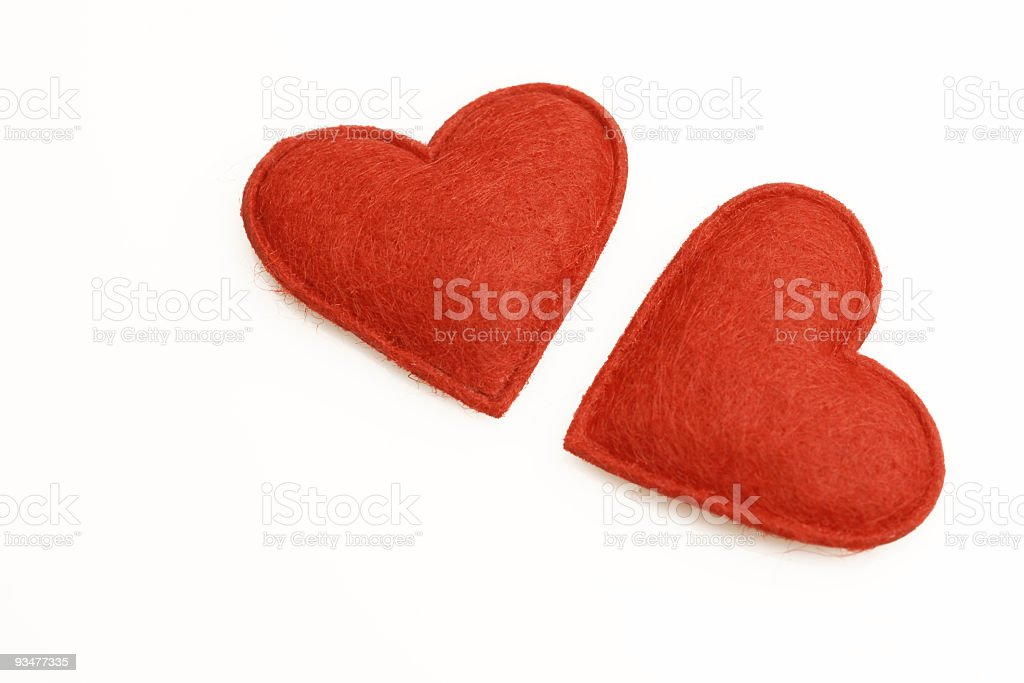 Red Hearts series royalty-free stock photo