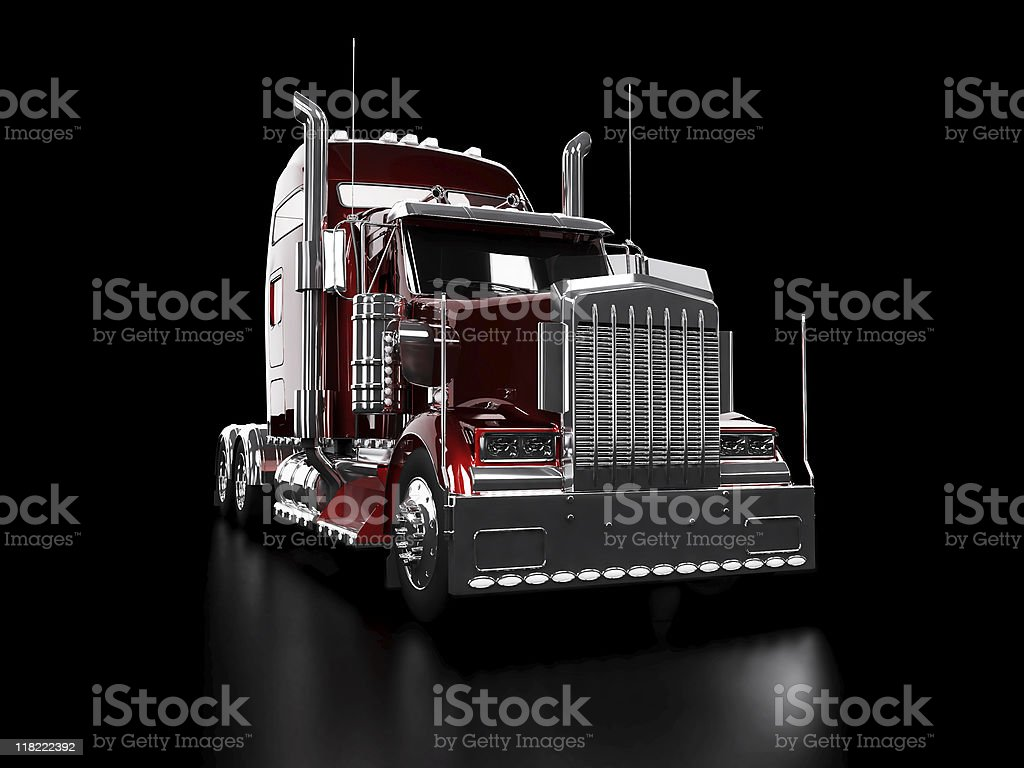Red heavy truck royalty-free stock photo