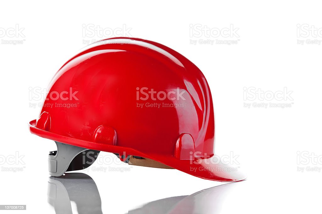 red helmet isolated on white background royalty-free stock photo
