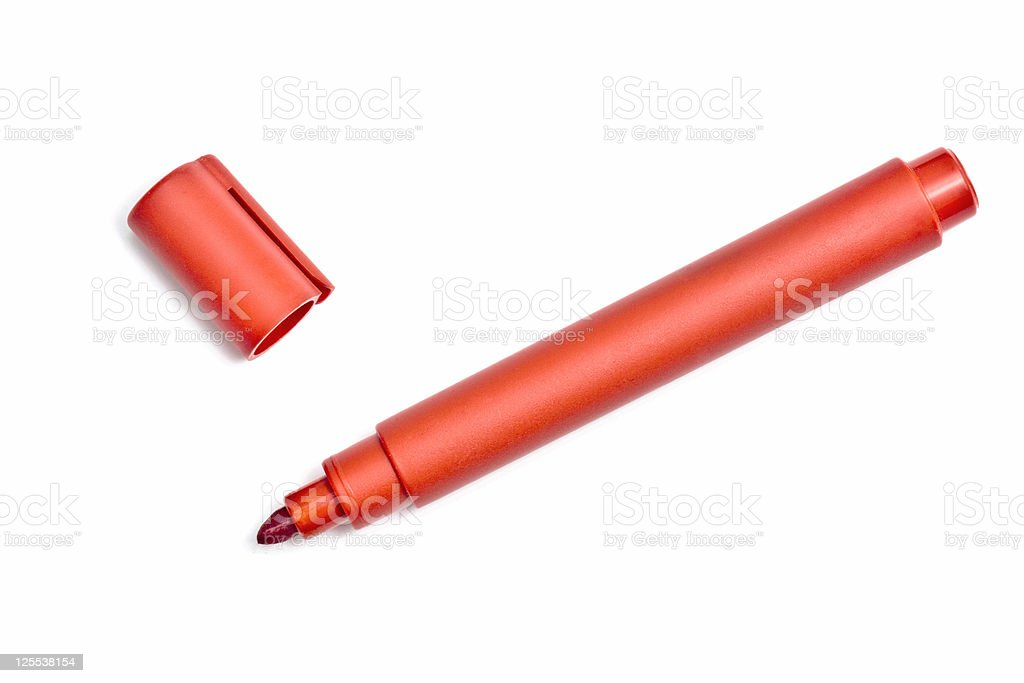 Red highlighter stock photo