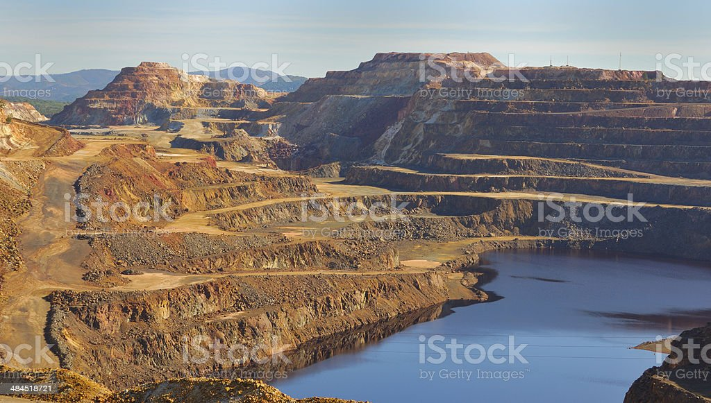 Red hill stock photo