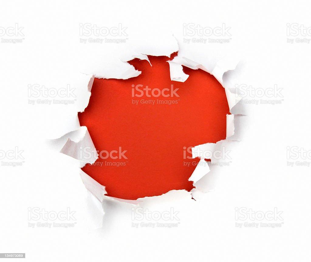 Trou rouge photo libre de droits
