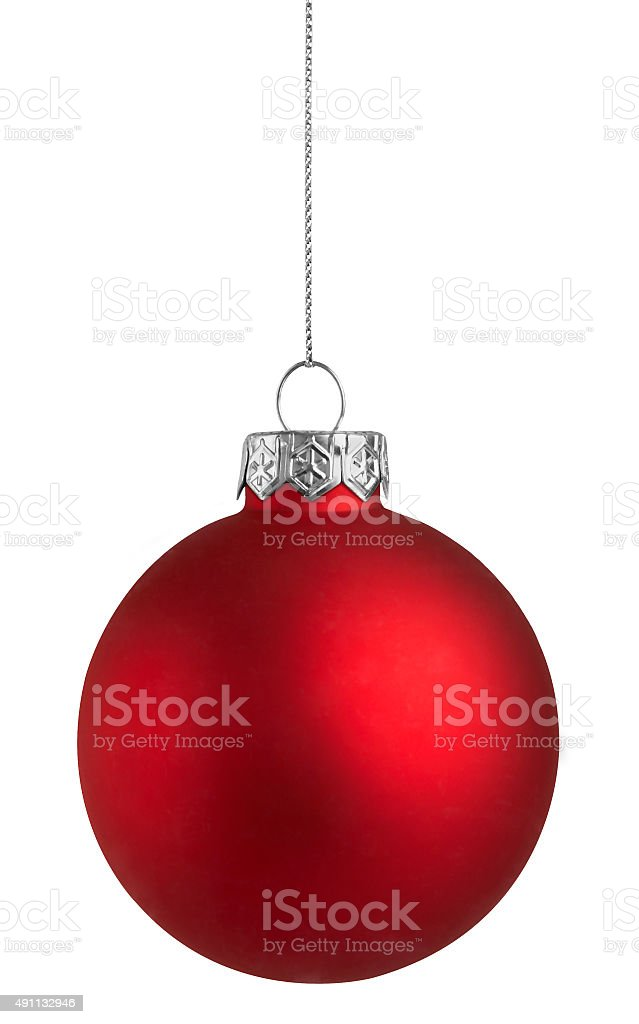 Red Holiday Bauble stock photo