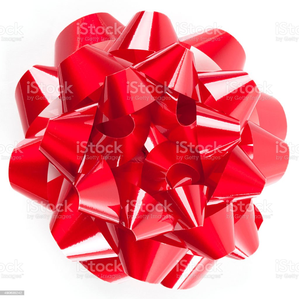 Red Holiday Bow stock photo