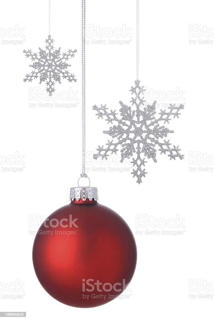 Red Holiday Ornament royalty-free stock photo