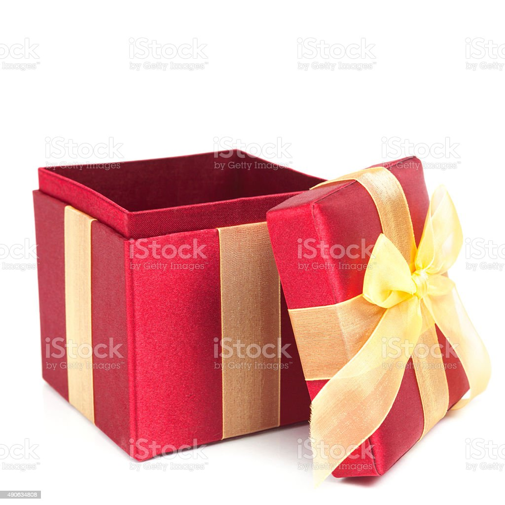 Red Holiday Present - Open stock photo