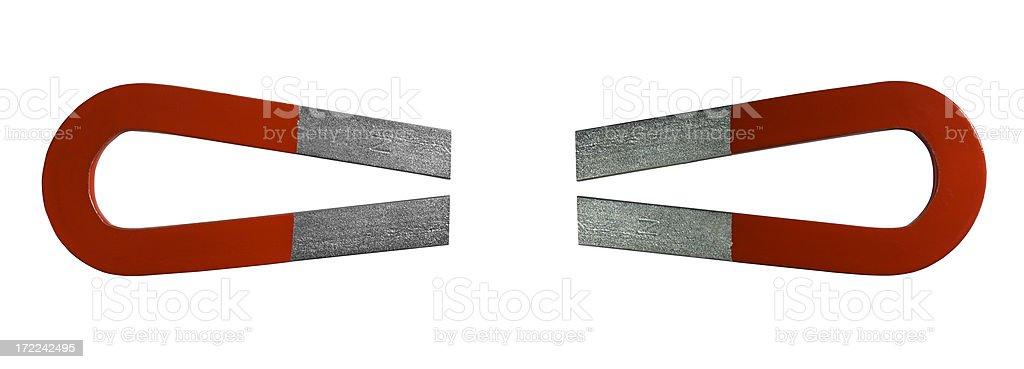Red Horseshoe Magnets stock photo