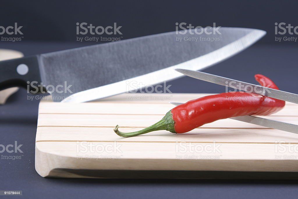 Red Hot and Sharp stock photo