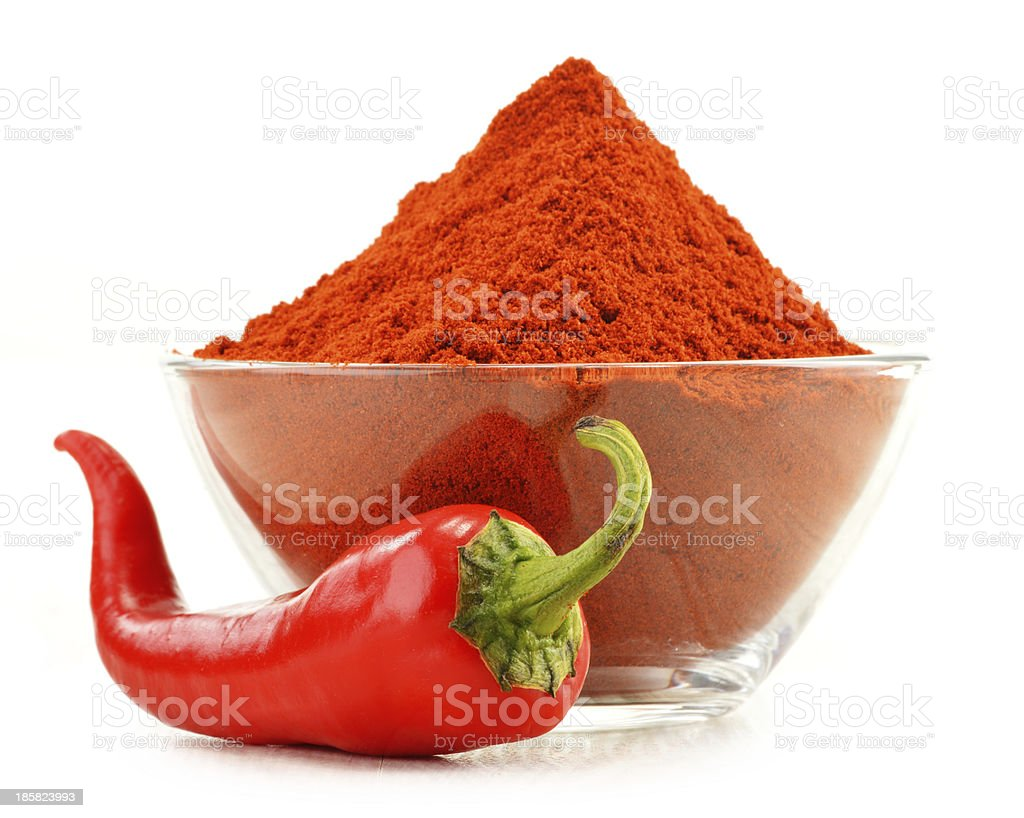 Red hot chili pepper isolated on white stock photo