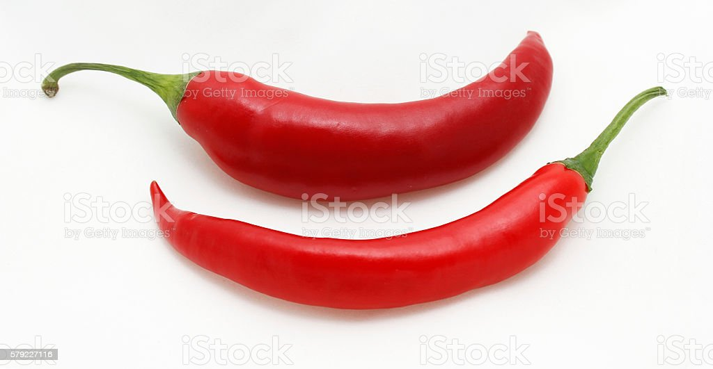 Red hot chili peppers. stock photo