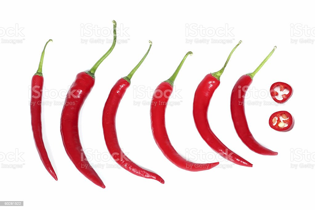 red hot chili-peppers royalty-free stock photo