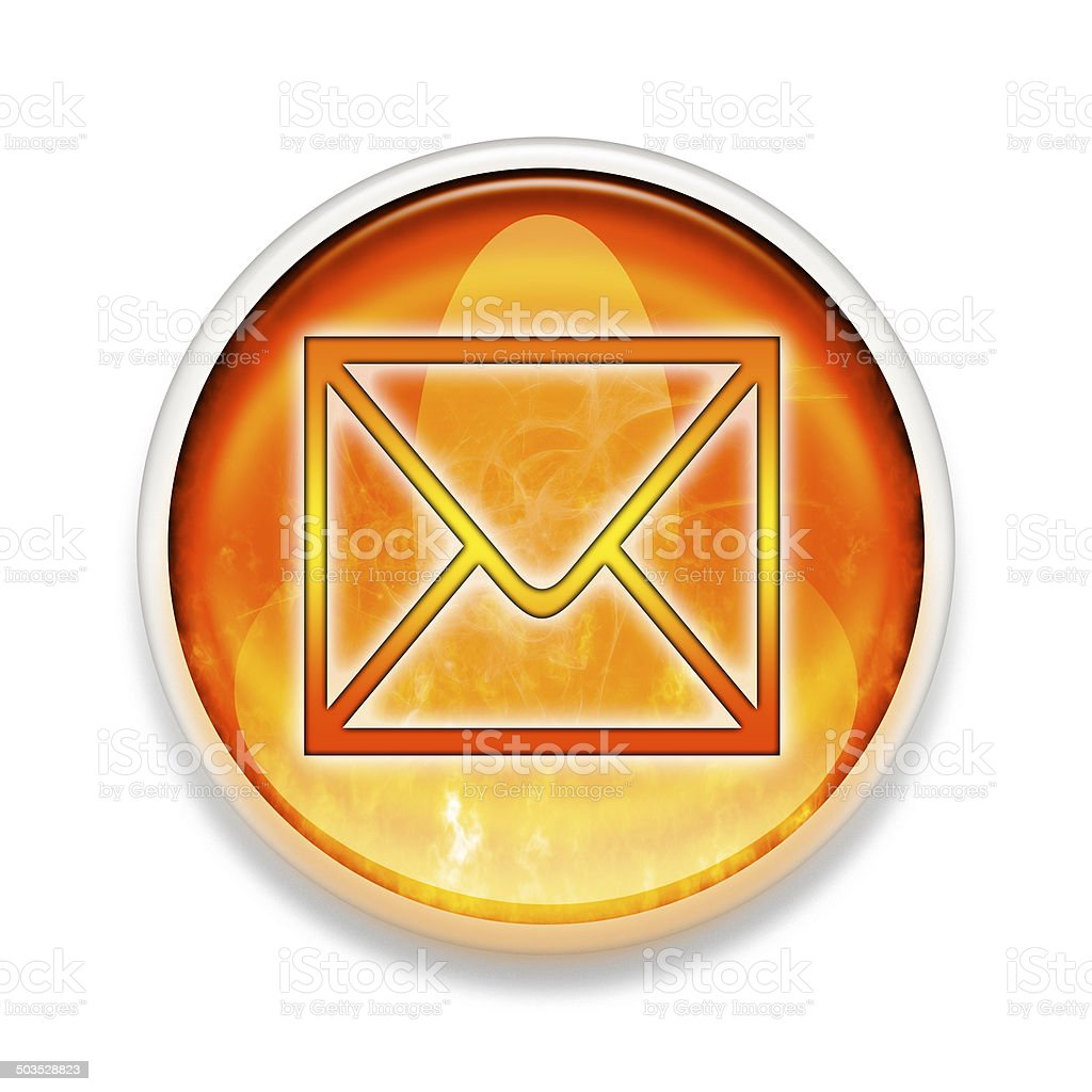 Red Hot e-mail button stock photo
