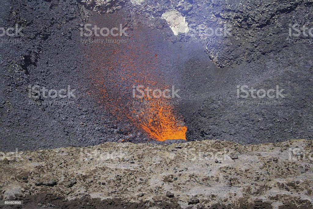 Red Hot magma royalty-free stock photo