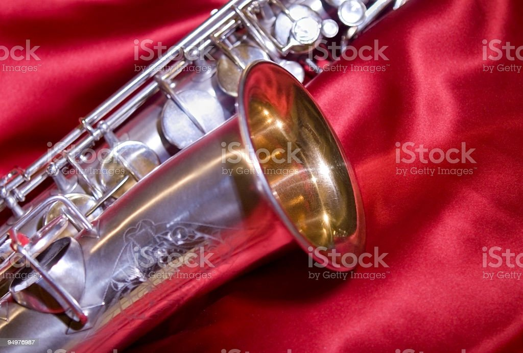 Red Hot Sax! royalty-free stock photo