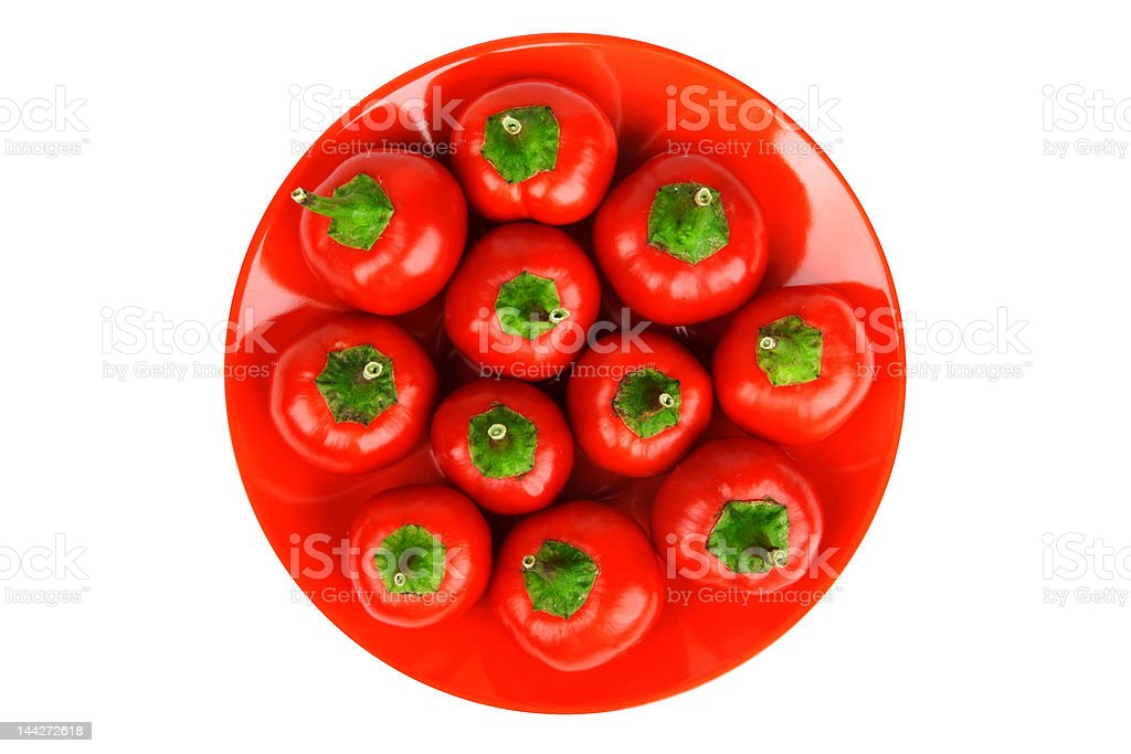 Red hot spicy peppers stock photo