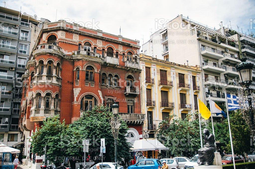 Красный дом или Особняк Лонго в Собор Святой Софии (Hagia Sophia) площади. стоковое фото