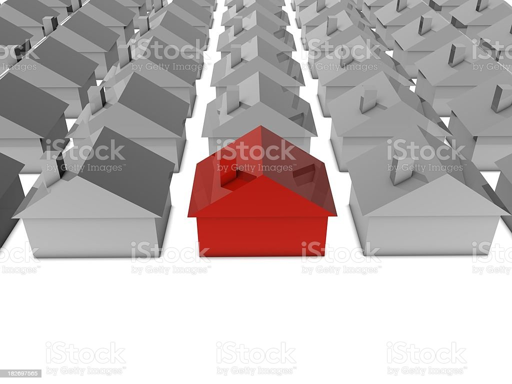 Red House royalty-free stock photo