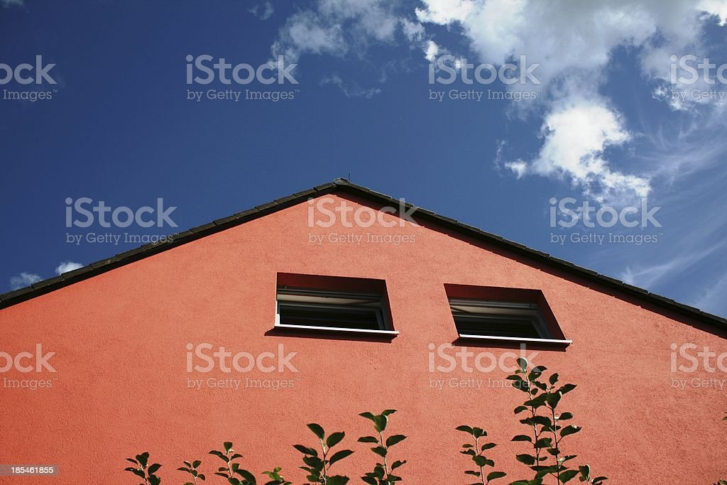 red house stock photo