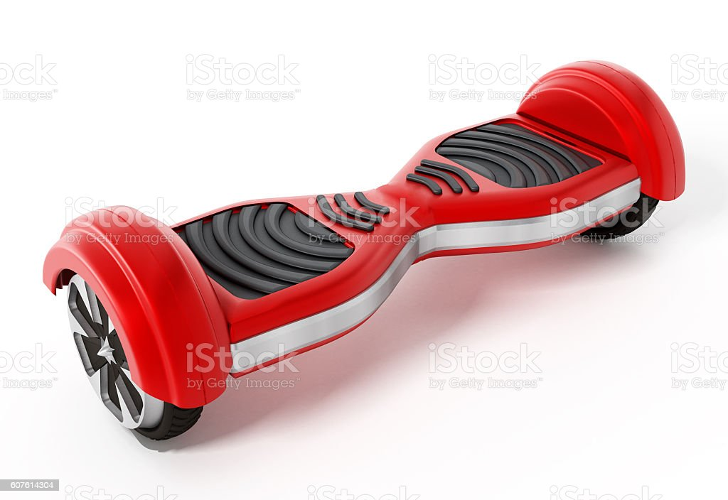 Red hoverboard stock photo
