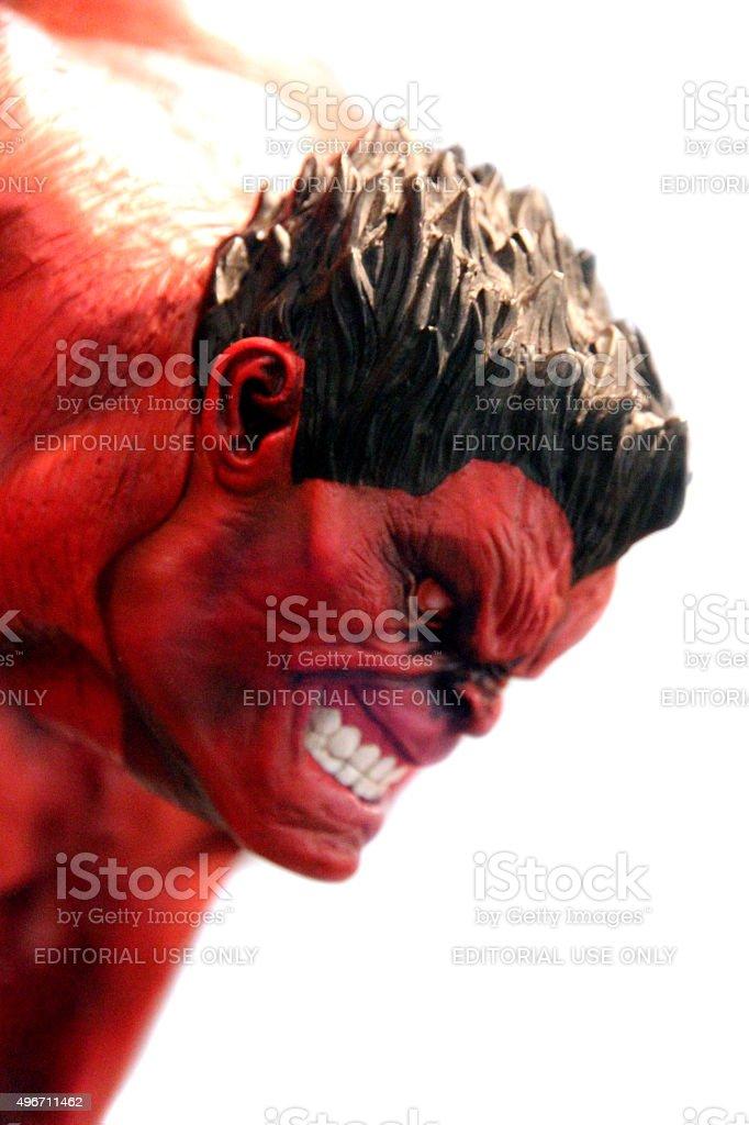 Red Hulk stock photo