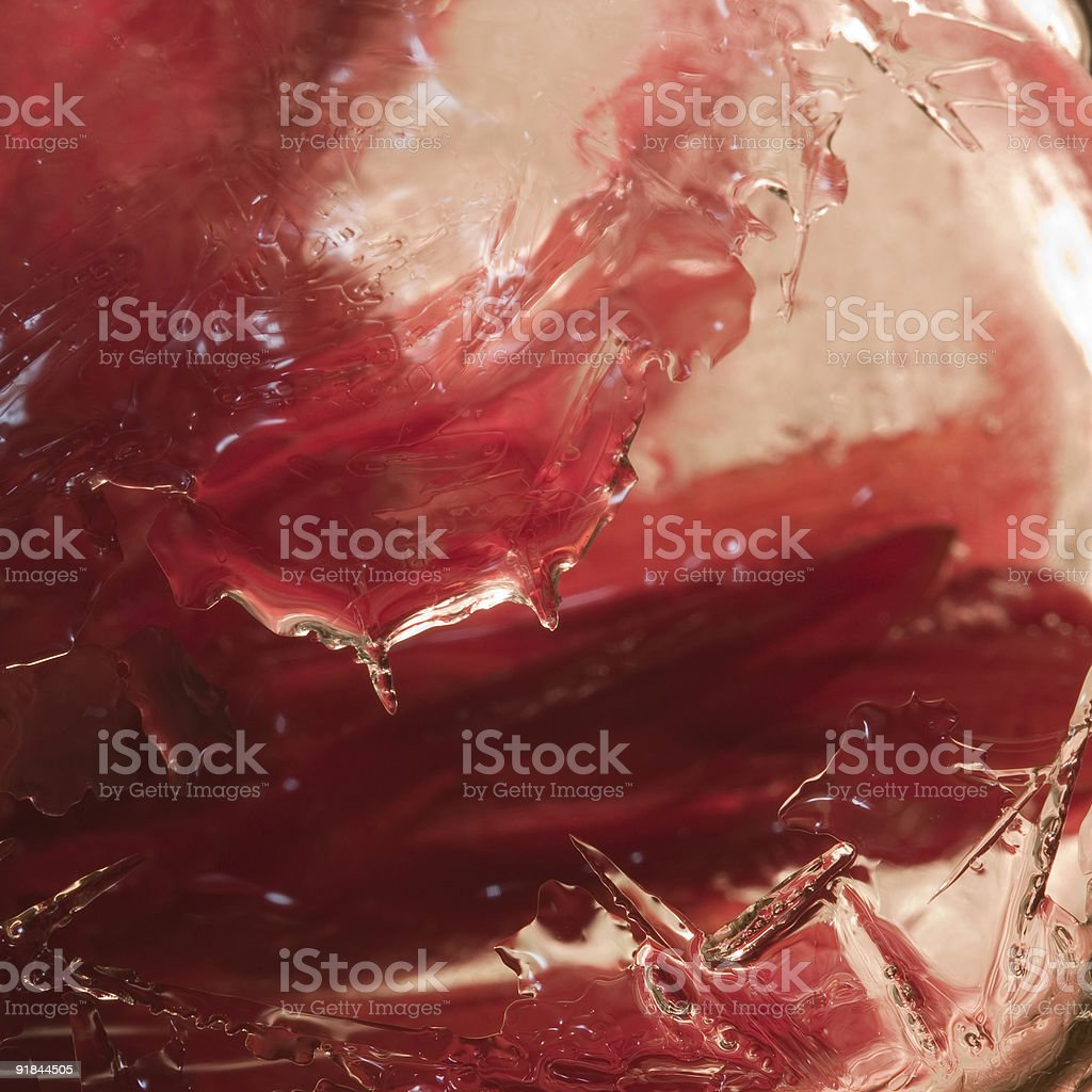 Red ice royalty-free stock photo