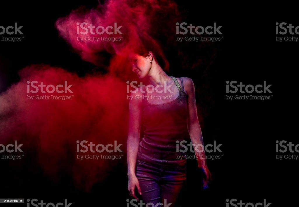 Red illusion stock photo