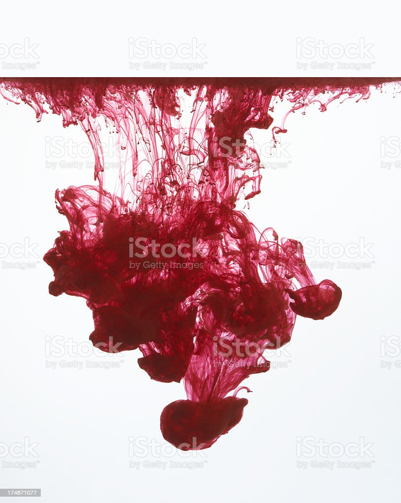 red ink 4 royalty-free stock photo