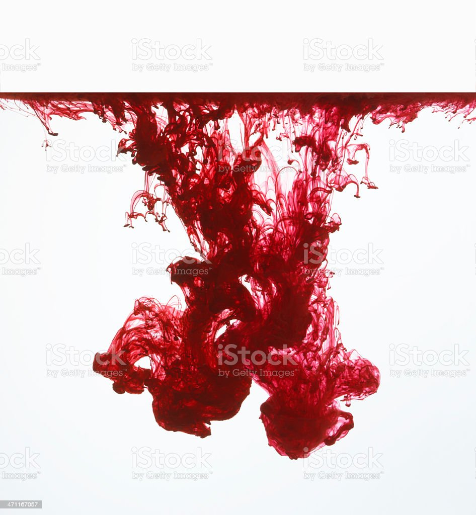 red ink 5 royalty-free stock photo
