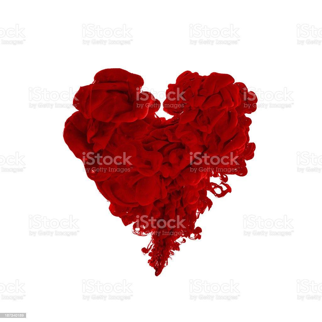 red ink heart stock photo