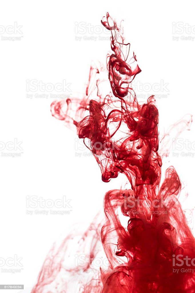 Red ink stock photo