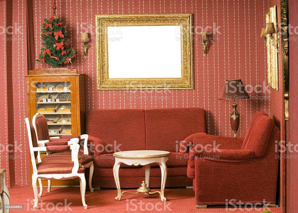 Red interior design royalty-free stock photo