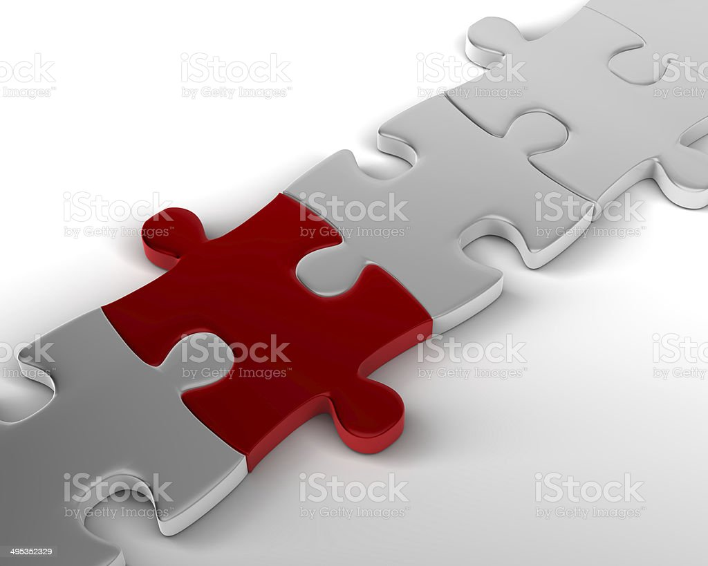 Red is the crucial link stock photo